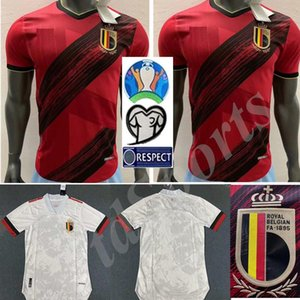 2020 European Cup Player version Belgium soccer jersey E.HAZARD R. LUKAKU camisetas national team 20 21 home away DE BRUYNE football shirt