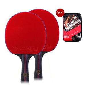 New 2pcs Double Fish 7 Layers Pure Wood Table Tennis Racket Pingpong Racket Paddle Pimples In Fast Attack Loop Light Weight 158g Z1118