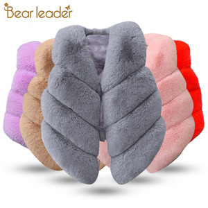 Bear Leader Girls Piel Outerwear 2020 New Springwinter Fashion GRUESO CALIENTE CALIENTE FAUX PIEZA ABIENTE AMBIENTE AMIGORTE UR COLOR COLORCE F1201