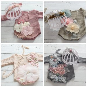 Newborn Photography Photo Studio Accessories Dresses for Baby Photo Shoot Props Christmas Girl Outfit Floral Clothes Product 201216