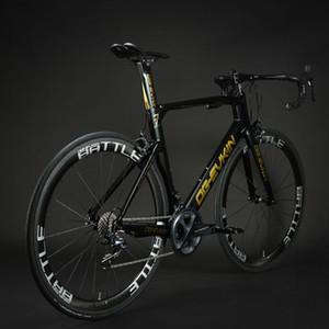 OG-Evkin CF017 Komple Karbon Yol Bisikleti 700C UD Parlak Bisiklet Yol Tekerlekler 50mm A271SB F372SB Hubs Bisiklet V-Fren 2021