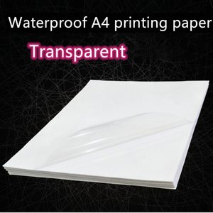 10pcs / 50pcs impermeable impresora de inyección de tinta A4 láser Hoja copiadora Craft Libro Blanco auto-adhesivo de la etiqueta engomada de papel kraft Q1117