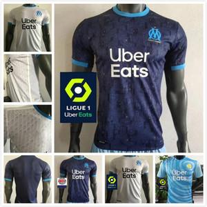 Player version Olympique De Marseille Maillot OM Soccer Jersey 2020 2021 Maillot De Foot 20 21 PAYET BENEDETTO SAKAI KAMARA Football Shirt