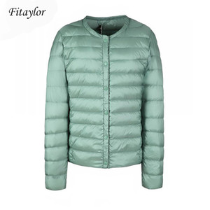 Fitaylor New winter Women Ultra Light White Duck Down Jacket Short Coat Slim Casual Down Coats Female Plus Size S-3xl Warm Parka Y1126