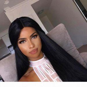 Full Lace Wigs Mongolian Hair 100% Wigs Straight Silk Weaving Is Full Of My Hair Wigs To Tie My Shoe Pressure Glueless Wig, Black Women Wig