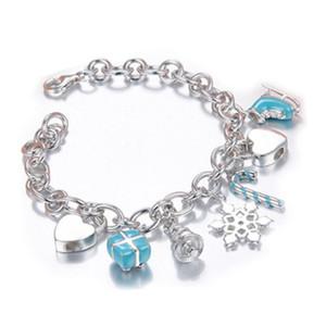 Alta qualidade original 925 prata esterlina clássico coração pulseira multi-cor opcional mulher jóias presente frete grátis