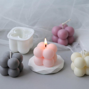 Silicone DIY Candles Mould Candles mold Aromatherapy Plaster Candle 3D Hand-made DHE3484