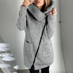 Sweatshirts Women Winter Plus Size 5XL Sudaderas Para Mujer Fleece Sweatshirt Hoodie Long Zipper Hoodies Jacket Coat Outwear
