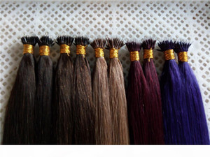 """Índia Remy Nano Hair Extensions 16 """"18"""" 20 """"22"""" 24 """"1"""" 1 """"1g S 100g PK Remy Remy Humano Micro Nano Anéis Dica Extensão"""