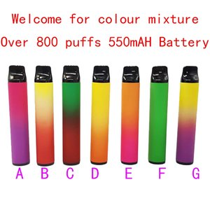 Free DHL shipment for Newest PUFF BAR PLUS 800+Puffs disposable cigarette Disposable atomizer 3.2ml Pods Cartridges e Cigar vaporizer