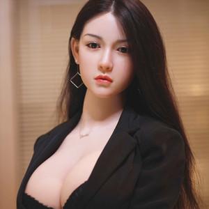 2021 Silicone solide réaliste Big poitrine poupée sexe de poitrine avec squelette en métal japonais adulte adulte poupée d'amour pour le sexe vagin vraie chatte sexy sexy
