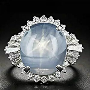 2020 Hot wish Moonstone ring European and American fashion wave of cross-border electricity supplier simple ring