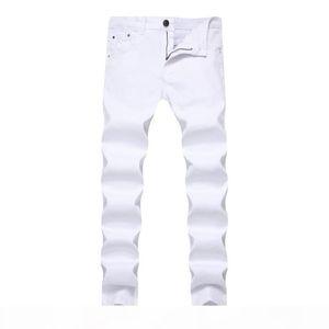 Mens Jeans Stretch Skinny Slim Color Denim Chino Pants For Men Casual Jeans Pants Men Sweat Clothes Khaki Black Red White