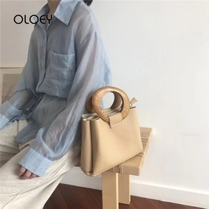 Brand Wooden Ring Totes Bags for Luxury Handbags Women Bag Designer Casual Shoulder Messenger Bag Pu Leather Cross Body Bag Sac 201204