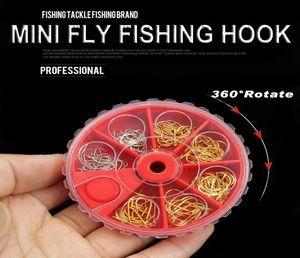 121pcs lot Carp Fishing Mini Fly Fishing Hook Set Of Gold Silver Color Hooks Small Fresh Water Barbed Zipper Fishingtackle jllLVE jhhome