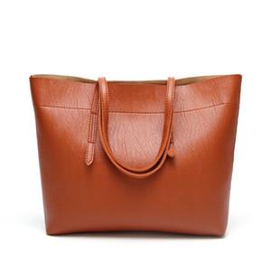 YCSCL2020 Autumn Winter New Lady Handbag Large Capacity Pure Color European And American Fashion Commuter Shoulder Bag Retro Q1119