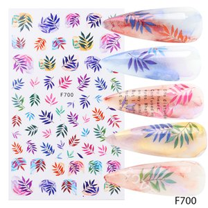 3D Nail Art Stickers Sliders Flowers Leaves Decals Human Face Design Foil Manicure Stickers New Year Decorations