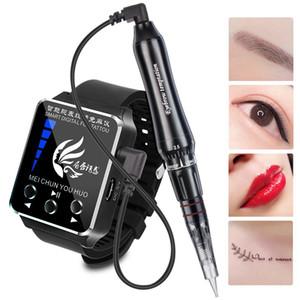 Ver pantalla táctil Tatuaje de maquillaje permanente PMU agujas y máquina de punta para la ceja Batería recargable del sistema MTS