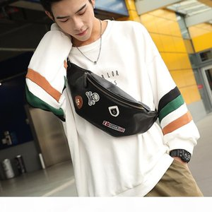 Wholesale Leather Running Bag Mens Medal Small Chest Bag Korean Mens Bag Outdoor Leisure Small Running Stylish Guys Small