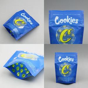 Küçük Çerezler Mavi Sarı 3.5 Gram Çerezler Kaliforniya SF 1Gram Kek Mix Beyaz Blanco Tahıl Süt Ambalaj Çantası DHL Bbylpr