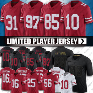 George Kittle Jimmy Garoppolo Jersey Raheem Moster Deebo Samuel Jerseys Nick Bosa Richard Sherman Football Jerry Riso Joe Montana maglie