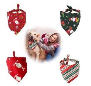 Pet Triangolo Sciarpa Burp Stoffa Cotto Christmas Dog Collars Pet Burp Panno Dog Neckerchief Forniture per cani Dogs Scarf Designs 7 colori DHB3568