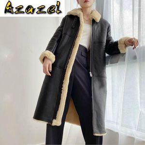 Mujeres de invierno Chaqueta de cuero genuino Sheearling Natural Coat Real Sheepskin Luxury Merino Ovejas Abrigos de piel KJ51911
