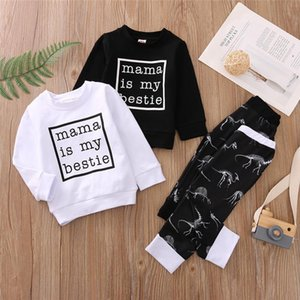 Baby Boy Clothing Sets Crewneck Sweatshirt Top + Pants Sweatpants 0-3Y Newborn Toddler Kids Spring Fall Casual Cotton Outfits