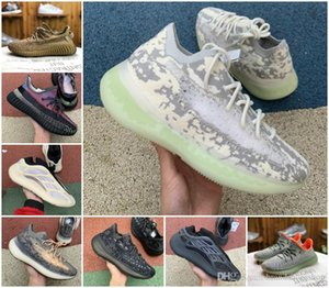 2020 Static 3m Reflective Yecheil Shoes 380 Alien Foam Runner Semi Frozen Yellow Earth Desert Sage Tail Light Azael White Black Clay