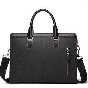 Bison Denim Male Business Briefcase Crossbody Cowhide Messenger Men Bag Handbag Tablet Leather Bags1 Shoulder Genuine Xouow
