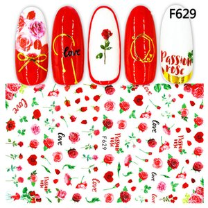 1 Sheet Nail Art Autumn Maple Leaf Sticker with Adhesive Transfer Printing Love Heart Animal Flower Nail Stickers