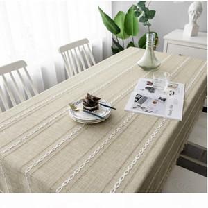 Día de Navidad hueco Mantel de color sólido Jacquard jacquard de lino de algodón de lino de lino de lino de la mesa de la mesa de la mesa del tablero de café
