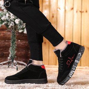 Tuinanle Winter Sneakers Quente Mulheres De Pelúcia Vulcanized Sapatos Senhoras Plus Tamanho 35-44 Sapatos Casuais Alto Top Lover Shoe Graffiti Flat 201201