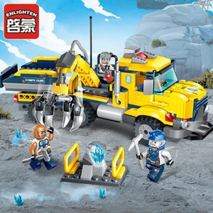 Enlighten Construction Engineering Building Block Technic Kyanite Squad Kyanite Transporter 3 Figure 309pcs Brick-No Box