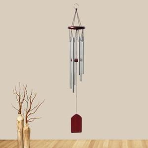 Деревянный ветер Chime маленький 6-трубный балкон подвесной двери украшения нордические пастырские колокола эолия орнамент ремесленничество ZYY144