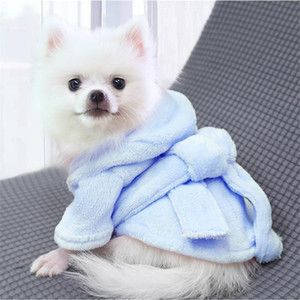 Cat Dog Bathrob Dog Pajamas Sleeping Clothes Soft Pet Bath Drying Towel Clothes for For Puppy Dogs Cats Coat Pet Accessories