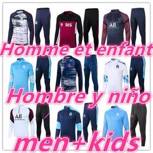 2020 2021 mens + kids football tracksuit soccer tracksuit training suit kits 20 21 soccer tracksuits survetement foot chandal tuta jogging
