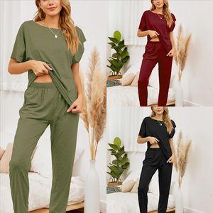 rpJ Hot Sale Autumn Suits Pajamas Women sleepwear Pajamas Female Turn-down Collar Full Sleepwear For women's Sets designer women Winter