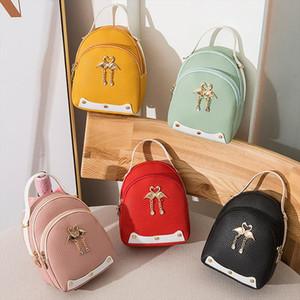 Mini Backpack Women PU Leather Shoulder Bag For Teenage Girls Multi Function Small Bagpack Female Ladies School Backpack T1P