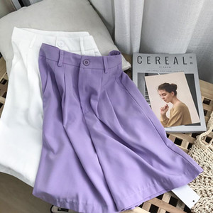 XJ high waist solid color straight tube casual pants women's summer new Korean version i#8