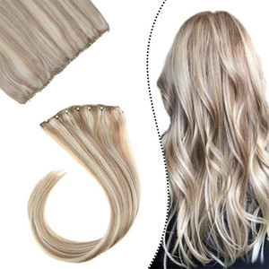 Micro Ring Wefts Human Hair Extensions Blonde Highlight Micro Bead Weft Extensions Brazilian Remy Hair 14-24 inch