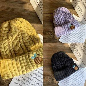 IRW4 New France Fashion Herren Designer Hüte Hüte Skullies Winter Mütze Gestrickte Wollhut Plus Samtkappe Mode Dicker Maske Fransen Mützen