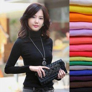 2021 High Elastic quality Fashion Autumn Winter sweater women wool turtleneck pullovers long sleeve big size women clothing 869