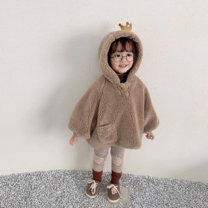 New winter coat children's hooded coat lamb wool clothes baby girl winter clothes kids new fashion jackets 201110
