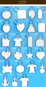 MDF Blank Key Chain Holder Sublimation Wooden Keychain Double Sides Thermal Transfer Heat Printing DIY Photo Logo Pendants Gifts E120302