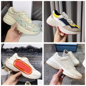 Новые кожаные кроссовки мужские женские туфли с клубничной волной рот Tiger Web Print Vintage Trainer мужчина женская обувь повседневная обувь HM011 PG01