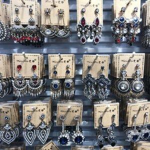 New Fashion Vintage Earrings Bohemian Mix Styles Geometric Dangle Drop Earring For Women Ethnic CZ Zircon Statement Earring