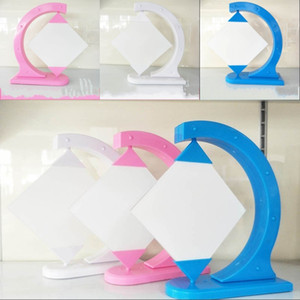 Fused Glass Picture Frame Sublimation Blank Photo Holder DIY Printed Quadrilateral Frames Swing Rack Bedroom Decorate 14 5hy G2