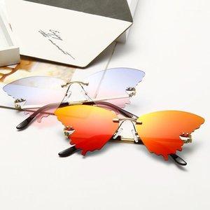 Солнцезащитные очки Мода Бабочка Форма Роскошные 2021 Градиент Винтаж Солнцезащитные Очки Крыло Очки Очки для женщин UV400 Gafas de Sol1