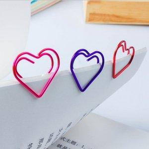 Toplu 300 adet Aşk Kalp Şeklinde Küçük Kağıt Klipler Bookmark Klipler Ofis Okul Ev için 6 Renkler